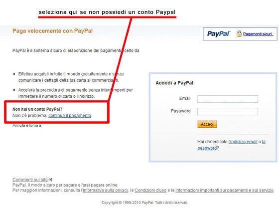 Conto paypal bloccato password